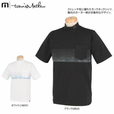 トラヴィスマシュー Travis Mathew メンズ ボタニカル柄 ボーダー 半袖 モックネックシャツ 7AD019 2021年モデル 詳細2