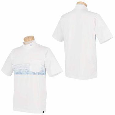 トラヴィスマシュー Travis Mathew メンズ ボタニカル柄 ボーダー 半袖 モックネックシャツ 7AD019 2021年モデル 詳細3