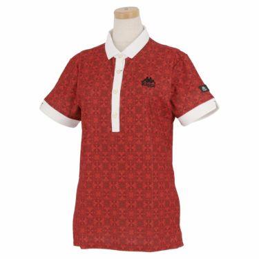 カッパ Kappa レディース 総柄 半袖 ポロシャツ KGA22SS61 2020年モデル レッド(RD)