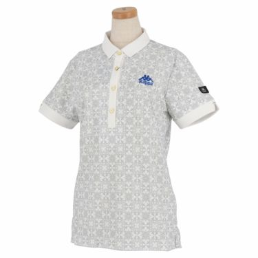 カッパ Kappa レディース 総柄 半袖 ポロシャツ KGA22SS61 2020年モデル ホワイト(WT)