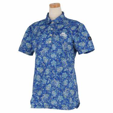 カッパ Kappa レディース ペイズリー柄 半袖 ポロシャツ KGA22SS68 2020年モデル ロイヤルブルー(RB)