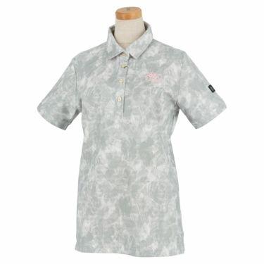 カッパ Kappa レディース ボタニカルプリント柄 半袖 ポロシャツ KGA22SS71 2020年モデル シルバー(SI)