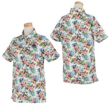 カッパ Kappa レディース フラワープリント柄 半袖 ポロシャツ KGA22SS72 2020年モデル 詳細3