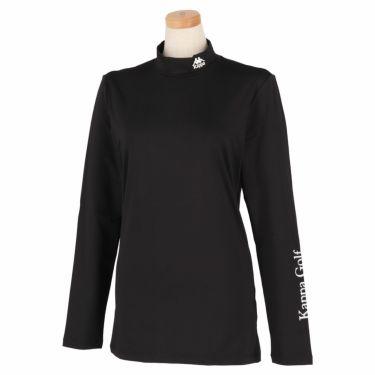 カッパ Kappa レディース ロゴプリント 長袖 ハイネック インナーシャツ KGA22UT61 2020年モデル ブラック(BK)
