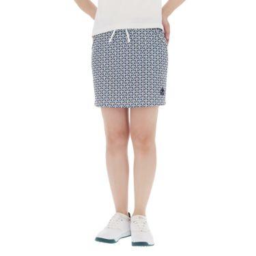 【ss特価】△カッパ レディース ロゴ刺繍 幾何学柄 スカート KGA22SK65 [2020年モデル] ゴルフウェア [春夏モデル 50%OFF] 特価 ブルー(BL)