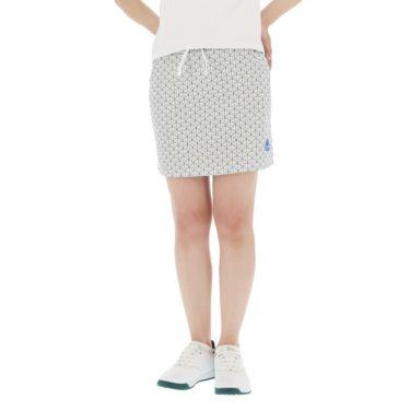 【ss特価】△カッパ レディース ロゴ刺繍 幾何学柄 スカート KGA22SK65 [2020年モデル] ゴルフウェア [春夏モデル 50%OFF] 特価 シルバー(SI)