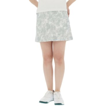 【ss特価】△カッパ レディース 撥水 ロゴワッペン ボタニカル柄 スカート KGA22SK66 [2020年モデル] ゴルフウェア [春夏モデル 50%OFF] 特価 シルバー(SI)