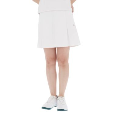 【ss特価】△カッパ レディース 撥水 ロゴワッペン プリーツ スカート KGA22SK67 [2020年モデル] ゴルフウェア [春夏モデル 50%OFF] 特価 ホワイト(WT)