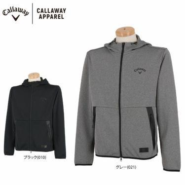 キャロウェイ Callaway メンズ ダンボールニット スウェット 長袖 フルジップ パーカー 241-1117500 2021年モデル 詳細1