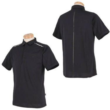 キャロウェイ Callaway メンズ ロゴプリント 背面ライン 天竺 半袖 ポロシャツ 241-1134503 2021年モデル 詳細3