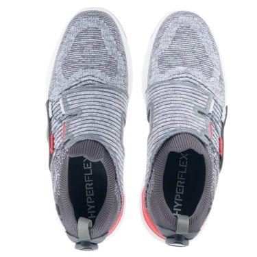 フットジョイ FootJoy ハイパーフレックス ボア 2021年モデル メンズ ゴルフシューズ 51083 グレー/レッド 詳細4