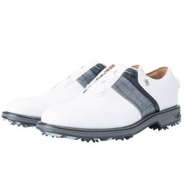 フットジョイ FootJoy ドライジョイズ プレミア パッカード ボア 2021年モデル メンズ ゴルフシューズ 53944 ホワイト/グレー/ブラック ホワイト/グレー/ブラック(53944)