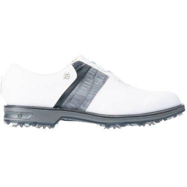 フットジョイ FootJoy ドライジョイズ プレミア パッカード ボア 2021年モデル メンズ ゴルフシューズ 53944 ホワイト/グレー/ブラック 詳細1