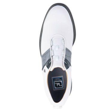 フットジョイ FootJoy ドライジョイズ プレミア パッカード ボア 2021年モデル メンズ ゴルフシューズ 53944 ホワイト/グレー/ブラック 詳細4