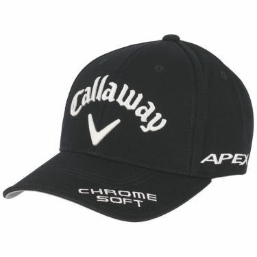 キャロウェイ メンズ 立体ロゴ刺繍 ツアー キャップ 241-1991503 010 ブラック 2021年モデル ブラック(010)