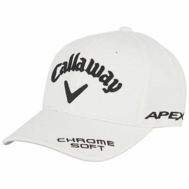 キャロウェイ メンズ 立体ロゴ刺繍 ツアー キャップ 241-1991503 030 ホワイト/ブラック 2021年モデル ホワイト/ブラック(030)
