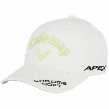 キャロウェイ メンズ 立体ロゴ刺繍 ツアー キャップ 241-1991503 035 ホワイト/ライトグリーン 2021年モデル ホワイト/ライトグリーン(035)