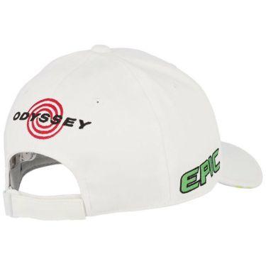 キャロウェイ メンズ 立体ロゴ刺繍 ツアー キャップ 241-1991503 035 ホワイト/ライトグリーン 2021年モデル 詳細1
