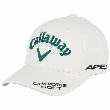 キャロウェイ メンズ 立体ロゴ刺繍 ツアー キャップ 241-1991503 036 ホワイト/グリーン 2021年モデル ホワイト/グリーン(036)