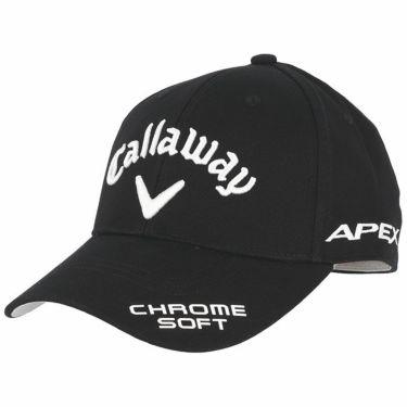 キャロウェイ メンズ 立体ロゴ刺繍 ONE FIT ツアー キャップ 241-1991505 010 ブラック 2021年モデル ブラック(010)
