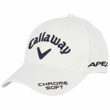 キャロウェイ メンズ 立体ロゴ刺繍 ONE FIT ツアー キャップ 241-1991505 030 ホワイト 2021年モデル ホワイト(030)