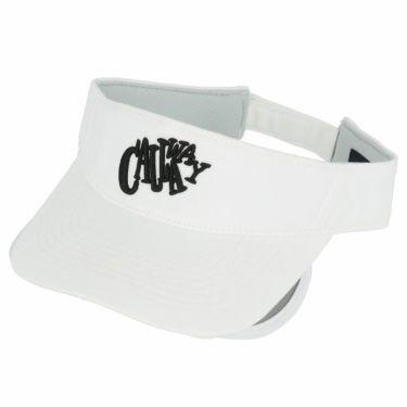 キャロウェイ レディース 立体ロゴ刺繍 セル可動式 サンバイザー 241-1191812 030 ホワイト 2021年モデル ホワイト(030)