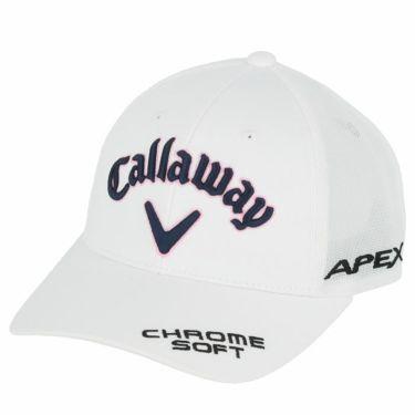 キャロウェイ レディース 立体ロゴ刺繍 ツアー American メッシュ キャップ 241-1991806 030 ホワイト 2021年モデル ホワイト(030)
