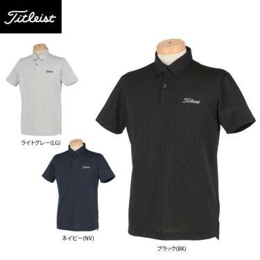 タイトリスト Titleist メンズ 総柄 メッシュ 半袖 ボタンダウン ポロシャツ TSMC2013 2020年モデル 詳細1