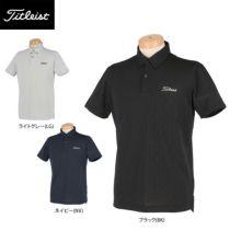 タイトリスト Titleist メンズ 総柄 メッシュ 半袖 ボタンダウン ポロシャツ TSMC2013 2020年モデル