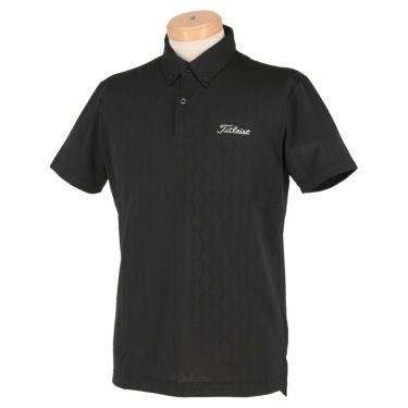 タイトリスト Titleist メンズ 総柄 メッシュ 半袖 ボタンダウン ポロシャツ TSMC2013 2020年モデル ブラック(BK)