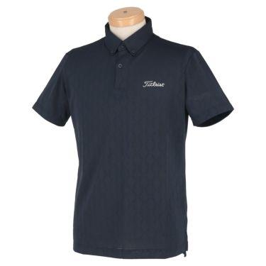 タイトリスト Titleist メンズ 総柄 メッシュ 半袖 ボタンダウン ポロシャツ TSMC2013 2020年モデル ネイビー(NV)