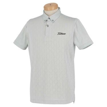 タイトリスト Titleist メンズ 総柄 メッシュ 半袖 ボタンダウン ポロシャツ TSMC2013 2020年モデル ライトグレー(LG)