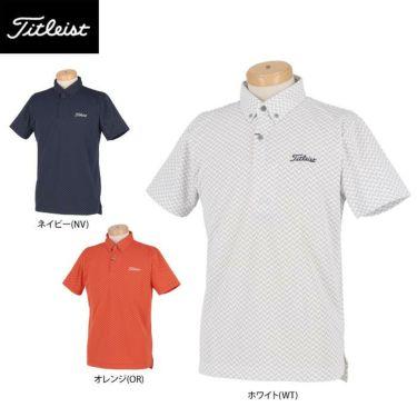 タイトリスト Titleist メンズ ヘリンボーン柄 半袖 ボタンダウン ポロシャツ TSMC2021 2020年モデル 詳細1