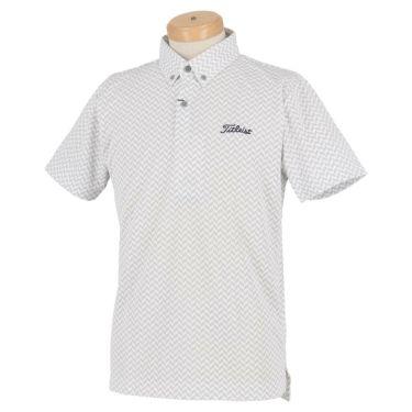 タイトリスト Titleist メンズ ヘリンボーン柄 半袖 ボタンダウン ポロシャツ TSMC2021 2020年モデル ホワイト(WT)