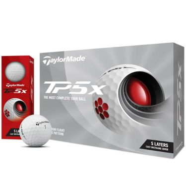 テーラーメイド TP5x ゴルフボール 2021年モデル 1ダース(12球入り) ホワイト