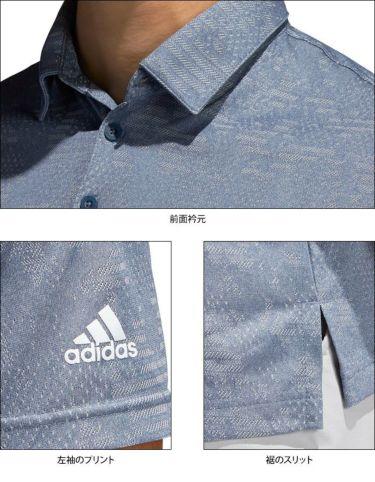 アディダス adidas メンズ ロゴプリント カモフラージュ柄 ジャガード 半袖 ポロシャツ 22664 2021年モデル 詳細4