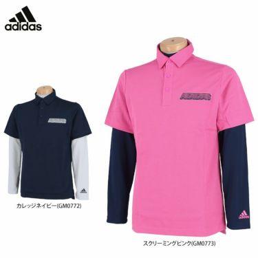 アディダス adidas メンズ ロゴプリント 半袖 ポロシャツ & 長袖 インナーシャツ 23086 2021年モデル 詳細1