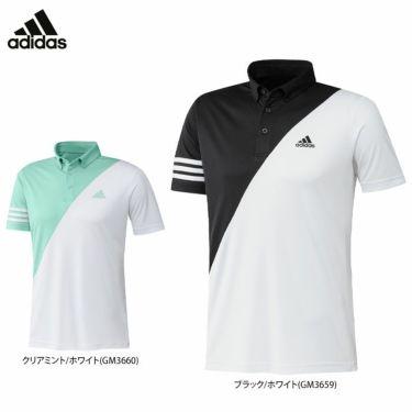 アディダス adidas メンズ ロゴプリント カラーブロック 半袖 ボタンダウン ポロシャツ 23282 2021年モデル 詳細1