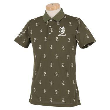 アドミラル Admiral メンズ ヤシの木プリント 飛び柄 ランパント刺繍 半袖 ポロシャツ ADMA954 カーキ(65)