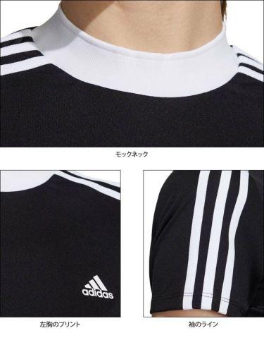アディダス adidas レディース スリーストライプス 半袖 モックネックシャツ 23283 2021年モデル 詳細4