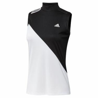 アディダス adidas レディース カラーブロック ノースリーブ モックネックシャツ 23287 2021年モデル ブラック/ホワイト(GM3685)