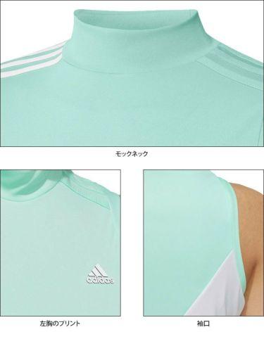 アディダス adidas レディース カラーブロック ノースリーブ モックネックシャツ 23287 2021年モデル 詳細4