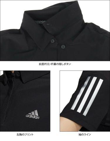 アディダス adidas レディース スリーストライプス 半袖 ボタンダウン ポロシャツ 23300 2021年モデル 詳細4