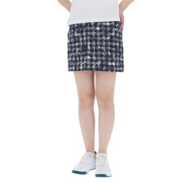 アドミラル Admiral レディース インナーパンツ付き サッカー生地 ボタニカルチェック柄 スカート ADLA954 ネイビー(30)