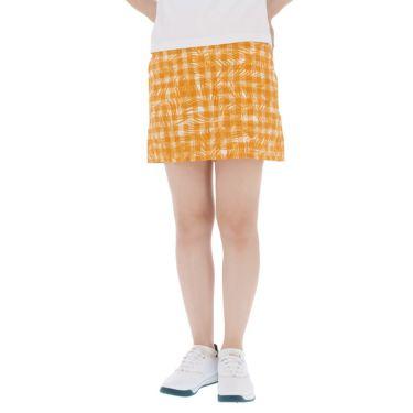 アドミラル Admiral レディース インナーパンツ付き サッカー生地 ボタニカルチェック柄 スカート ADLA954 オレンジ(46)