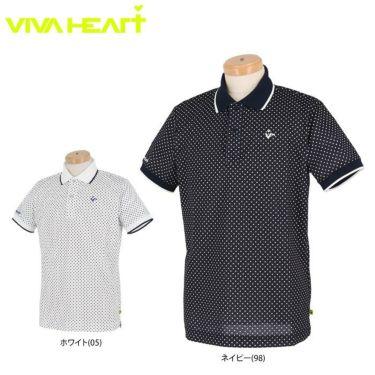 ビバハート VIVA HEART メンズ ドット柄 半袖 ポロシャツ 011-22440 2020年モデル 詳細1