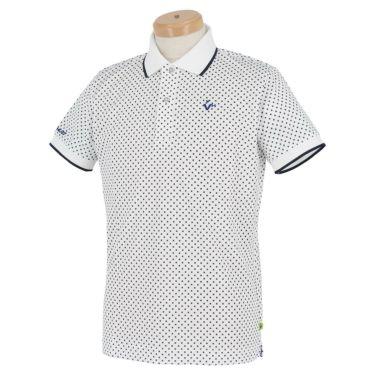 ビバハート VIVA HEART メンズ ドット柄 半袖 ポロシャツ 011-22440 2020年モデル ホワイト(05)