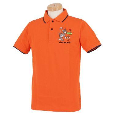 ビバハート VIVA HEART メンズ トムとジェリー コラボ 半袖 ポロシャツ 014-22440 2020年モデル オレンジ(35)