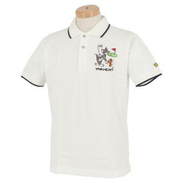 ビバハート VIVA HEART メンズ トムとジェリー コラボ 半袖 ポロシャツ 014-22440 2020年モデル ホワイト(05)