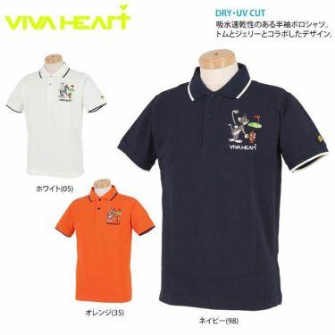 ビバハート VIVA HEART メンズ トムとジェリー コラボ 半袖 ポロシャツ 014-22440 2020年モデル 詳細2